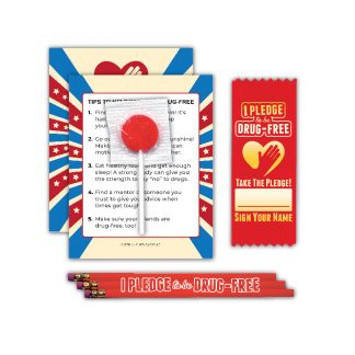 """I Pledge to be Drug-Free"" Lollipop Card MiniPak"