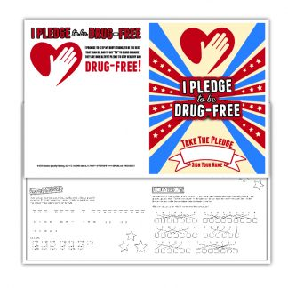 """I Pledge to be Drug-Free"" Activity Sheet"