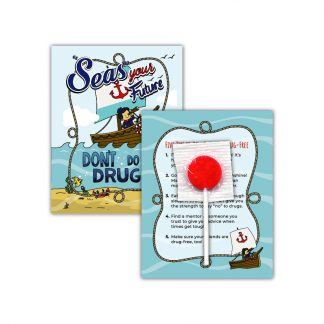 """'Seas' Your Future"" Lollipop Card"