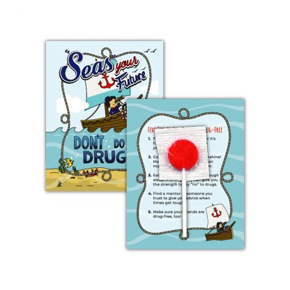 """""""'Seas' Your Future"""" Lollipop Card"""