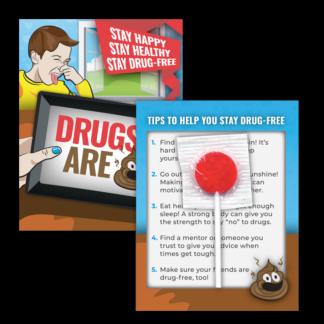 """Drugs are 💩"" Emoji Lollipop Card"