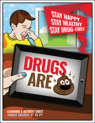 """Drugs are 💩"" Emoji Activity Sheet"