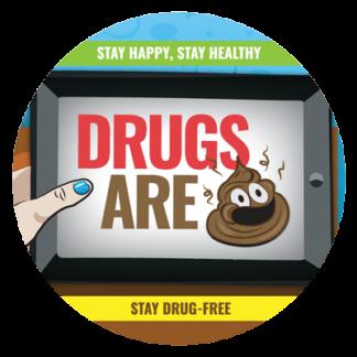 """""""Drugs are 💩"""" Emoji Sticker"""