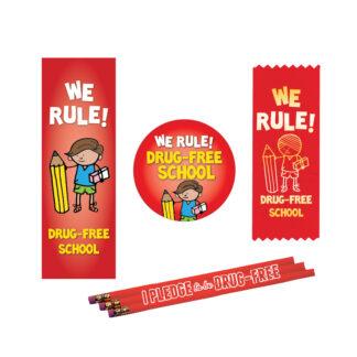"""We Rule, Drug-Free School"" Ribbon MiniPak"