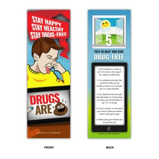"""Drugs are 💩"" Emoji Bookmark"