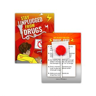 """Stay Unplugged from Drugs"" Lollipop Card"