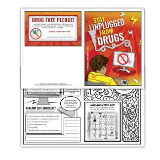 """Stay Unplugged from Drugs"" Activity Sheet"