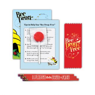 """'Bee' Drug-Free"" Lollipop Card MiniPak"