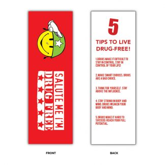 """Salute Me! I'm Drug Free!"" Bookmarks"