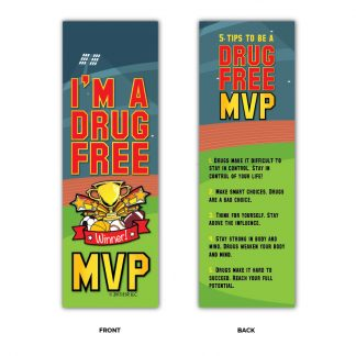"I'm a Drug-Free MVP"" Bookmarks"
