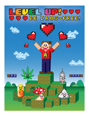 """Level Up! Be Drug-Free!"" Activity Sheet"