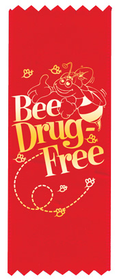 """'Bee' Drug-Free"" Red Ribbon"