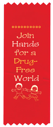 """Join Hands for A Drug-Free Land"" Red Ribbon"