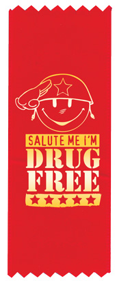 """Salute Me I'm Drug Free"" Red Ribbon"