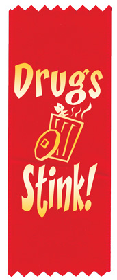 """Drugs Stink"" Red Ribbon"