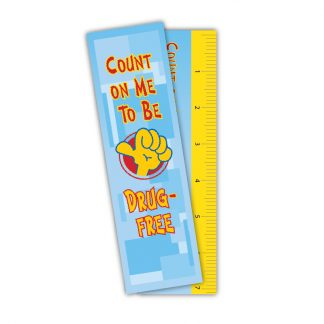 """Count on Me to be Drug-Free"" Laminated Ruler Bookmark"