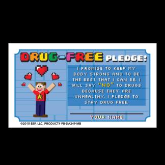 """Level Up! Be Drug-Free!"" Pledge Card"