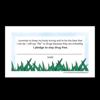 """'Bee' Drug-Free"" Pledge Card"