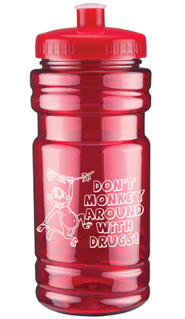 """Don't Monkey Around with Drugs"" Water Bottle"
