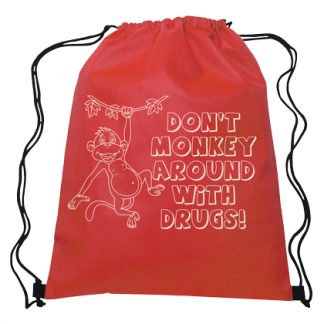 """Don't Monkey Around with Drugs"" Drawbag"