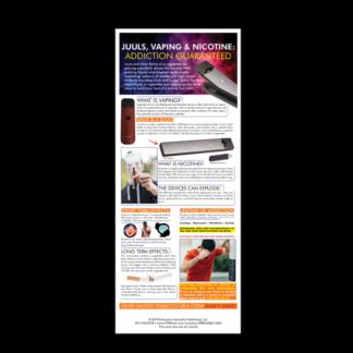 """Juuls, Vaping & Nicotine: Addiction Guaranteed"" Presentation Card"