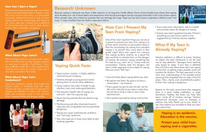 A Parent's Guide to Vaping Pamphlet (Inside Preview)