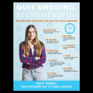 """""""Quit Smoking. Begin Healing."""" Poster"""