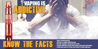 """Vaping is Addictive"" Banner"
