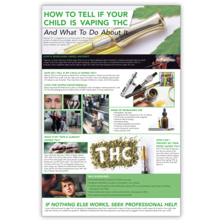 """""""How to Tell If Your Child Is Vaping THC"""" Wall Graphic"""