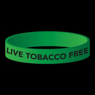 """Live Tobacco Free"" Wristband"