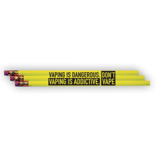 """Vaping Is Dangerous. Vaping is Addictive. Don't Vape"" Pencil"