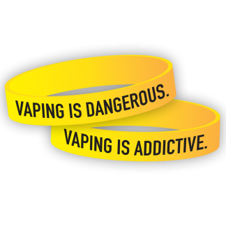 """Vaping Is Dangerous. Vaping is Addictive."" Wristband"