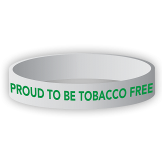 """""""Proud to Be Tobacco Free"""" Wristband"""