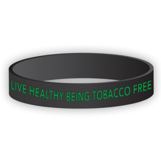 """""""Live Healthy Being Tobacco Free"""" Wristband"""
