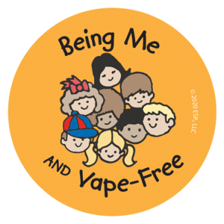 """""""Being Me and Vape-Free"""" Sticker"""