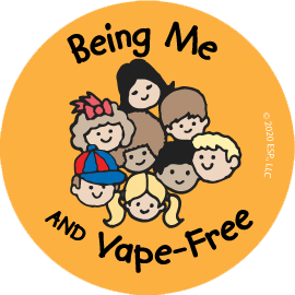 """Being Me and Vape-Free"" Sticker"