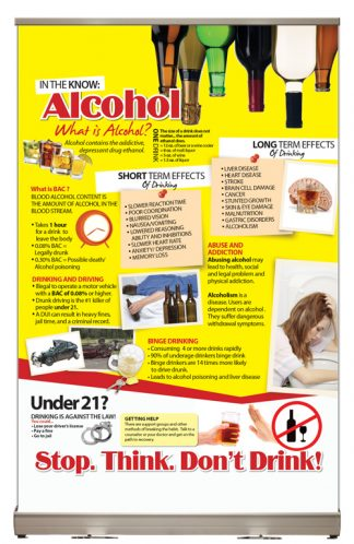 In The Know: Alcohol Tabletop Display