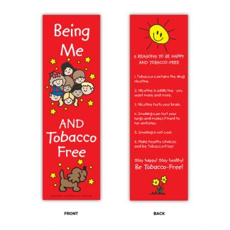 """Being Me and Tobacco Free!"" Bookmark"
