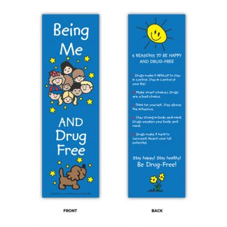 """Being Me and Drug Free!"" Bookmark"