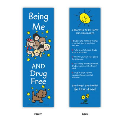 """""""Being Me and Drug Free!"""" Bookmark"""