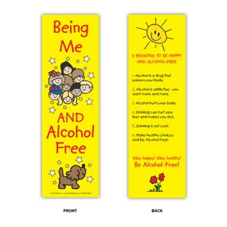 """Being Me and Alcohol Free!"" Bookmark"