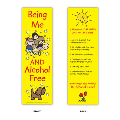 """""""Being Me and Alcohol Free!"""" Bookmark"""