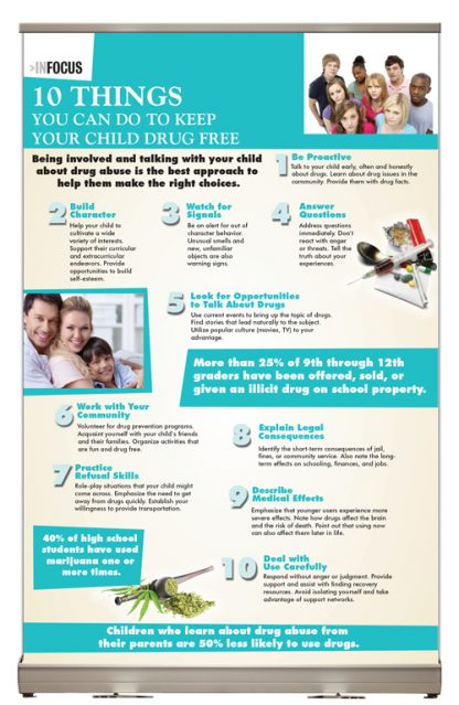 InFocus: Ten Things You Can Do to Keep Your Child Drug Free Tabletop Display