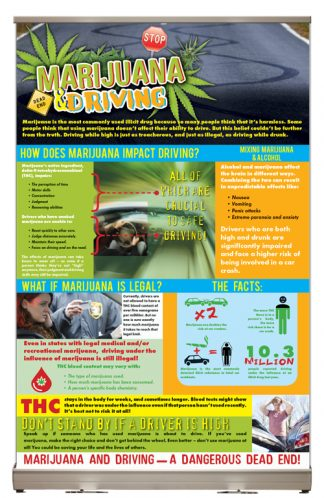 Marijuana & Driving Tabletop Display