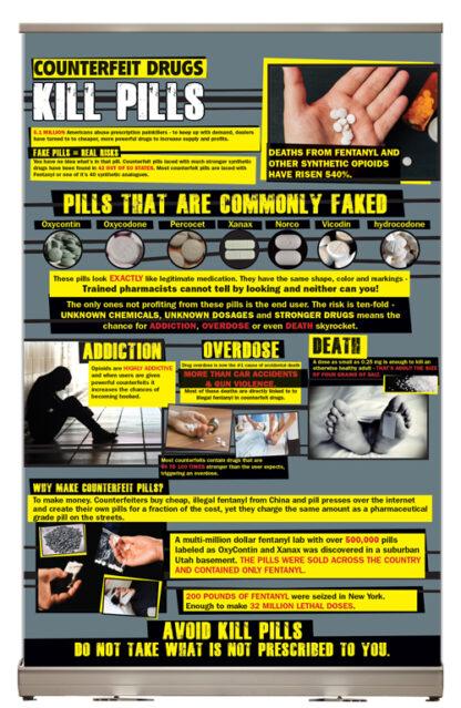 Counterfeit Drugs: Kill Pills Tabletop Display