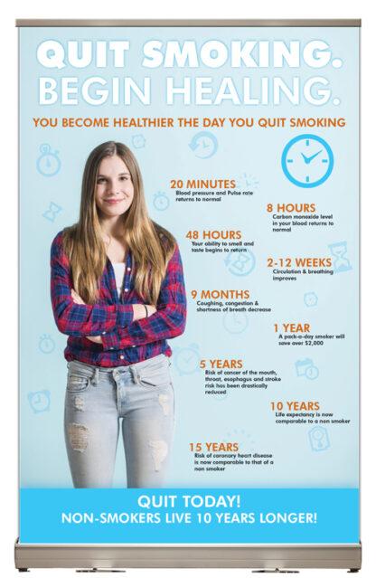 """""""Quit Smoking. Start Healing."""" Tabletop Display"""
