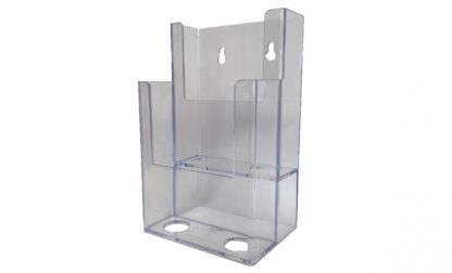 Information Center Acrylic Holder (2 Compartment)