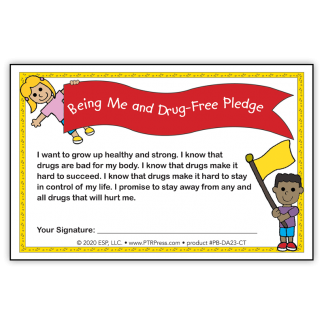 """""""Being Me and Drug-Free!"""" Certificate"""