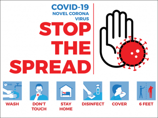 COVID-19: Stop the Spread Yard Sign