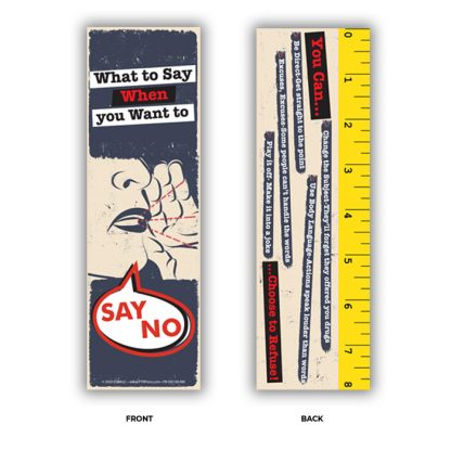 refusal skills bookmark